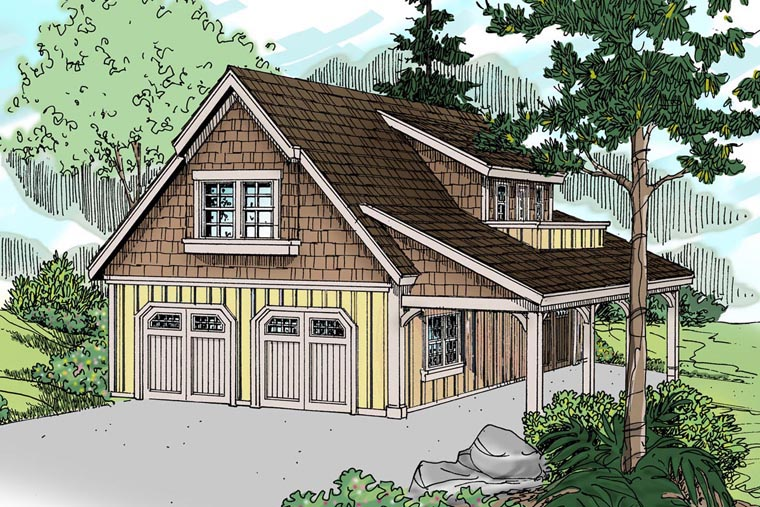 Craftsman 3 Car Garage Plan 41150 Elevation