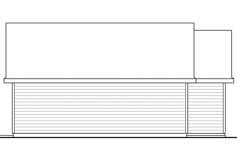 Traditional 2 Car Garage Apartment Plan 41152 Picture 2