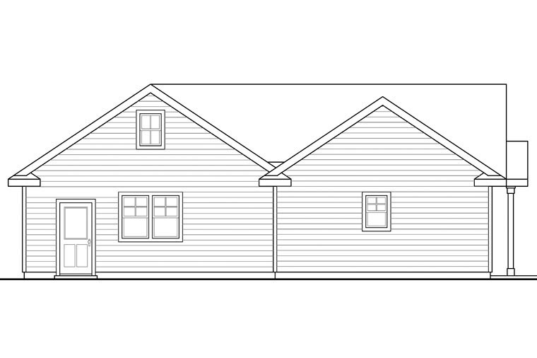 Traditional Garage Plan 41152 Rear Elevation