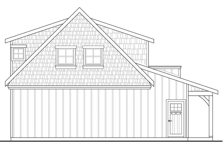 Craftsman Garage Plan 41153 Rear Elevation