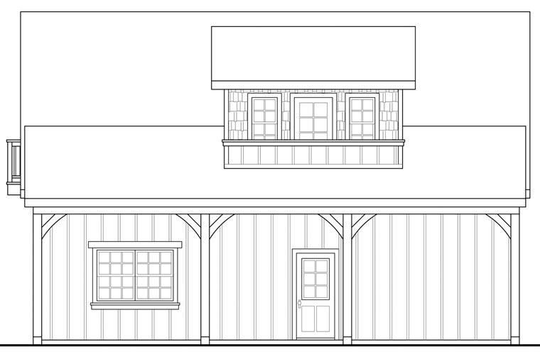 Craftsman 2 Car Garage Plan 41154 Picture 2