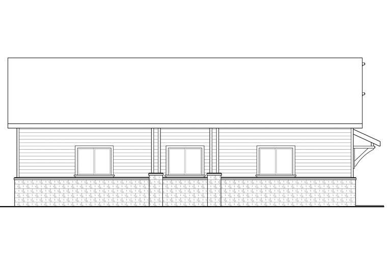 Traditional 4 Car Garage Plan 41155 Picture 1