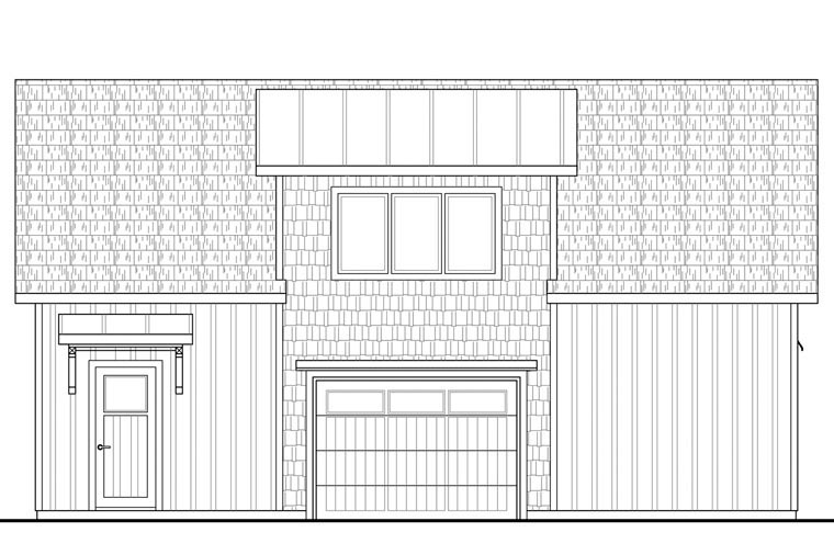 Craftsman, Farmhouse 2 Car Garage Apartment Plan 41156 with 2 Beds, 1 Baths Picture 1