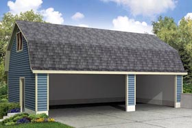 Garage Plan 41157 | Style Garage Plan, 3 Car Garage Elevation