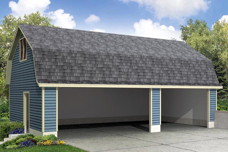 3 Car Garage Plan 41157 Elevation