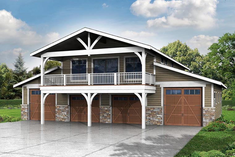 Country 6 Car Garage Plan 41159 Elevation