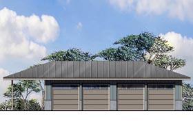 Traditional 4 Car Garage Plan 41161, 1 Baths Elevation