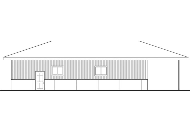 Traditional Garage Plan 41161 Rear Elevation