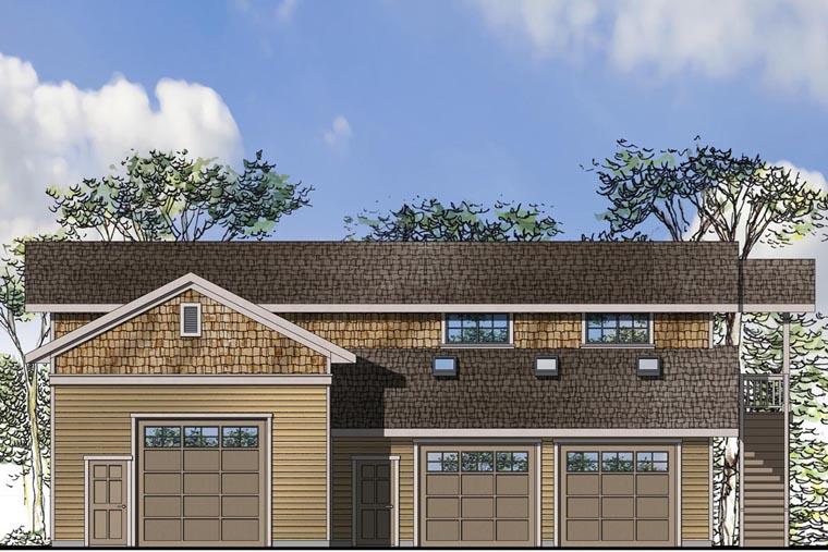 Craftsman Garage Plan 41163 Elevation