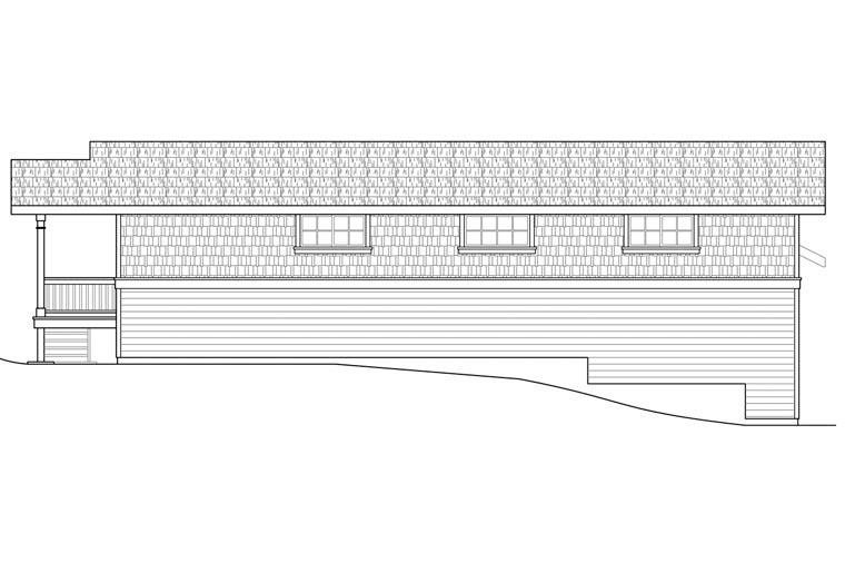 Craftsman Garage Plan 41163 Rear Elevation