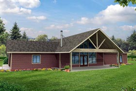 Contemporary Country Ranch House Plan 41166 Elevation