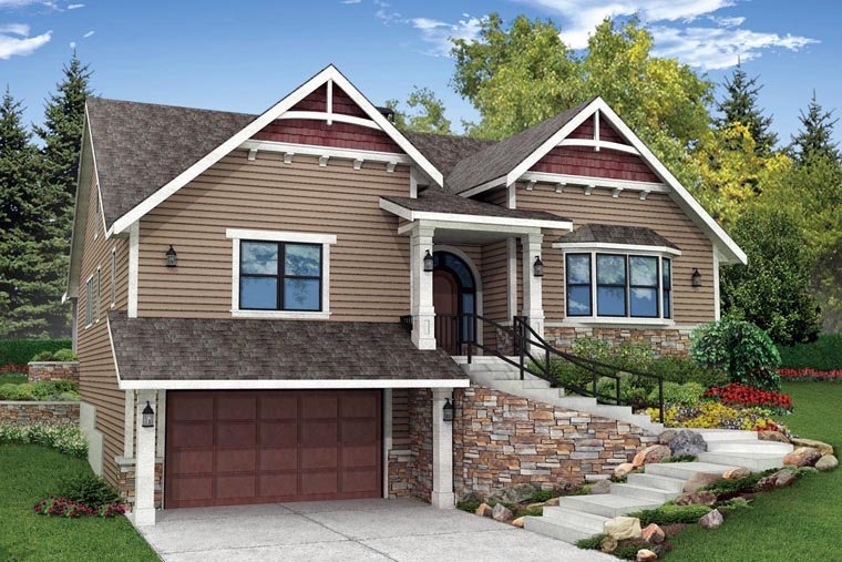 Bungalow Cottage Country Craftsman House Plan 41167 Elevation