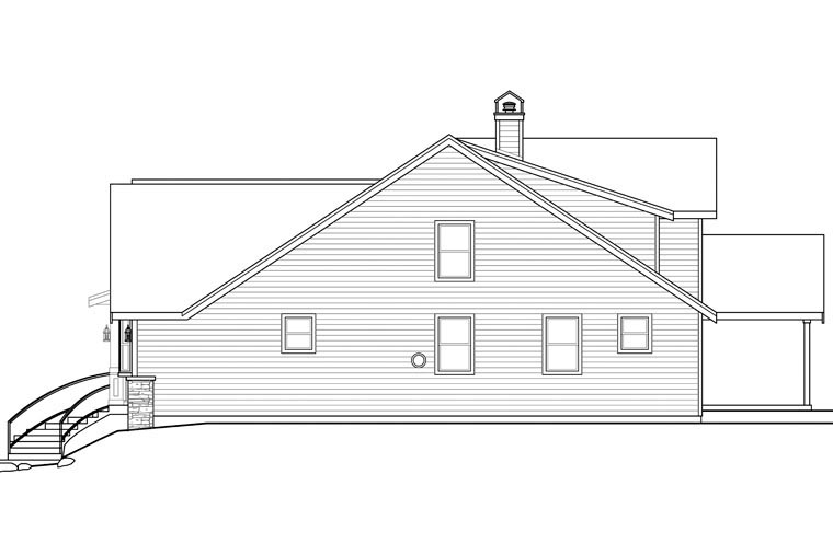 Bungalow, Cottage, Country, Craftsman House Plan 41167 with 2 Beds, 3 Baths, 2 Car Garage Picture 2