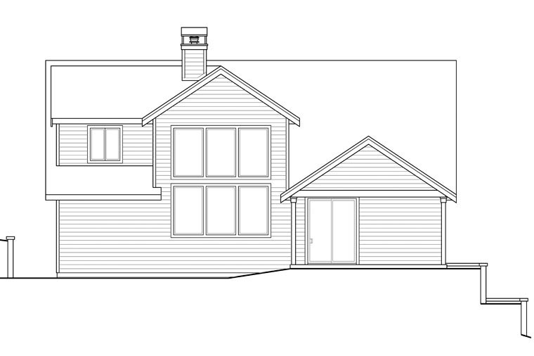Bungalow Cottage Country Craftsman House Plan 41167 Rear Elevation