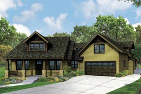 Bungalow Country Craftsman Traditional House Plan 41168 Elevation