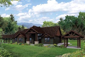 Craftsman Ranch Traditional House Plan 41169 Elevation