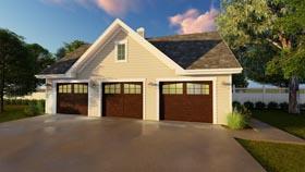 Garage Plan 41177 | Traditional Style Plan, 3 Car Garage Elevation