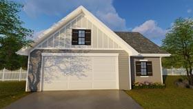 Garage Plan 41178 | Country Traditional Style Plan, 2 Car Garage Elevation