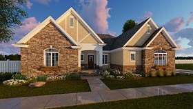 House Plan 41181   Cottage European Traditional Tudor Style Plan with 2193 Sq Ft, 3 Bedrooms, 1 Bathrooms, 2 Car Garage Elevation