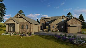 Tudor , Traditional , Craftsman House Plan 41182 with 4 Beds, 4 Baths, 3 Car Garage Elevation