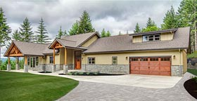 Bungalow Country Craftsman Ranch House Plan 41200 Elevation