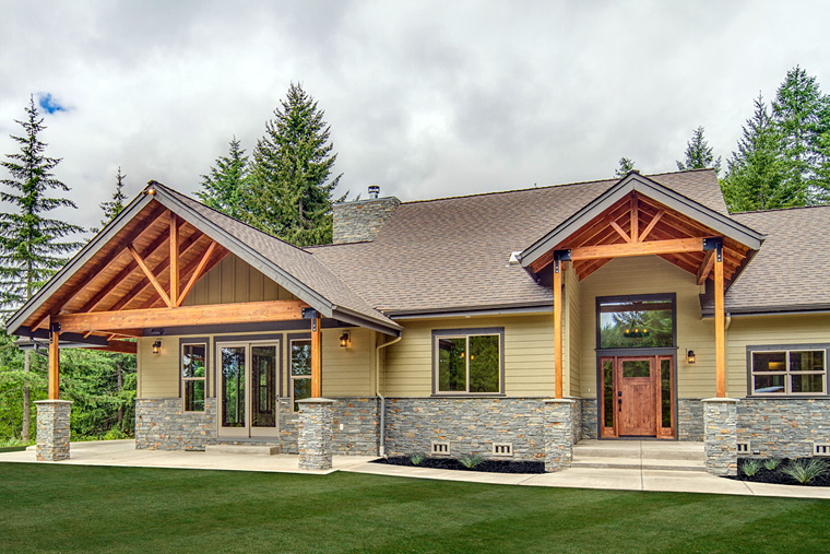 Bungalow Country Craftsman Ranch House Plan 41200
