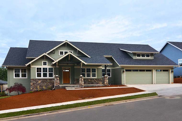 Country Craftsman Traditional House Plan 41201 Elevation