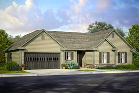 House Plan 41202 | Country, Ranch, Traditional Style House Plan with 2102 Sq Ft, 3 Bed, 3 Bath, 2 Car Garage Elevation