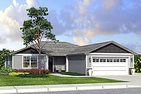 Country Ranch Traditional House Plan 41205 Elevation