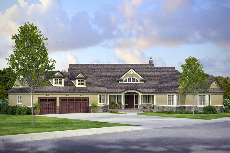 Country Craftsman Ranch House Plan 41206 Elevation