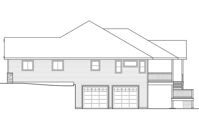 Cottage, Country, Craftsman, Traditional House Plan 41208 with 3 Beds, 3 Baths, 4 Car Garage Picture 2