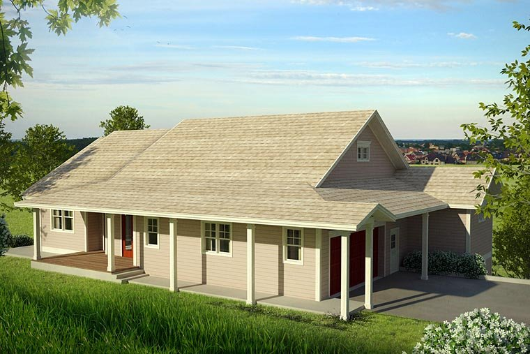 Country , Ranch , Traditional House Plan 41209 with 3 Beds, 3 Baths, 2 Car Garage Elevation