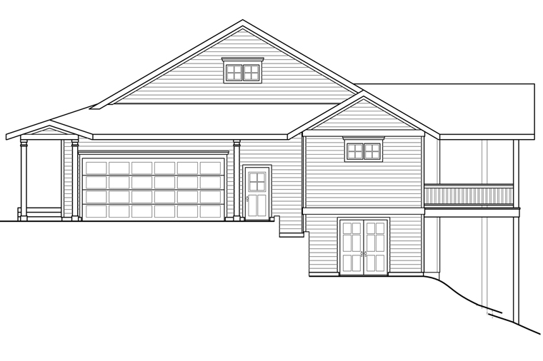 Country, Ranch, Traditional House Plan 41209 with 3 Beds, 3 Baths, 2 Car Garage Picture 2