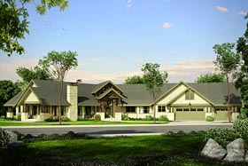Country Craftsman Ranch House Plan 41211 Elevation