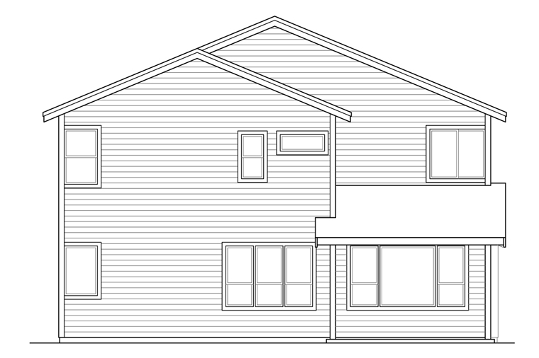 Country Traditional House Plan 41215 Rear Elevation