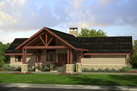 Country Ranch House Plan 41216 Elevation