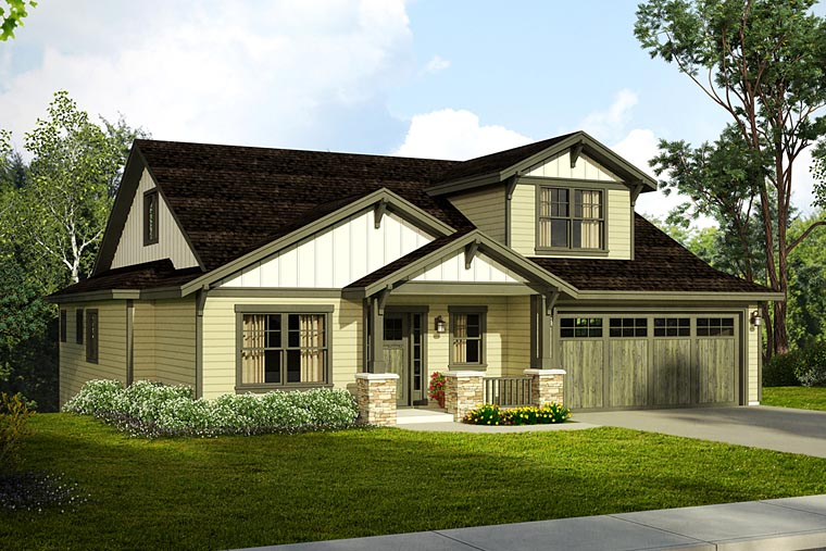 Bungalow Cottage Country Craftsman House Plan 41218 Elevation