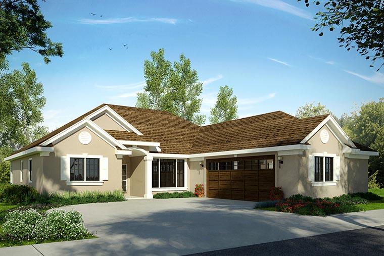 Florida Mediterranean House Plan 41219 Elevation