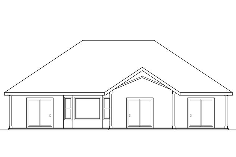 Florida Mediterranean House Plan 41219 Rear Elevation