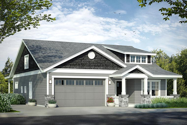 Bungalow Cottage Craftsman House Plan 41221 Elevation