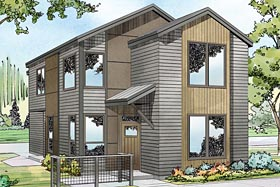 Contemporary , Florida , Southwest House Plan 41222 with 4 Beds, 3 Baths, 2 Car Garage Elevation