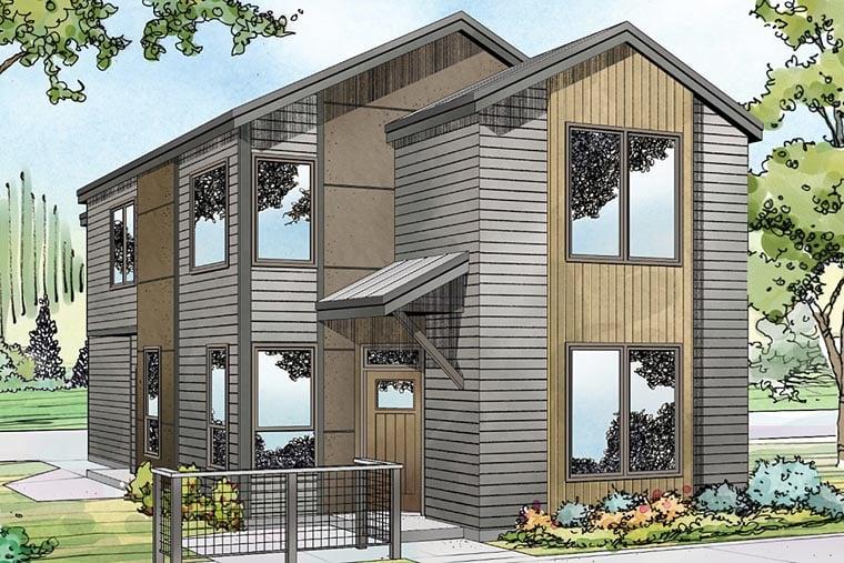Contemporary Florida Southwest House Plan 41222 Elevation