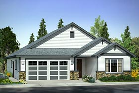 Cottage Country Craftsman Traditional House Plan 41223 Elevation