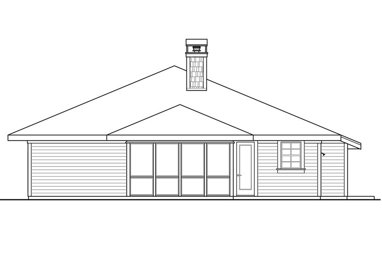 Bungalow Cottage Craftsman House Plan 41225 Rear Elevation