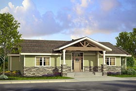 Country Craftsman Ranch House Plan 41226 Elevation