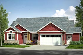Country Craftsman Traditional House Plan 41227 Elevation