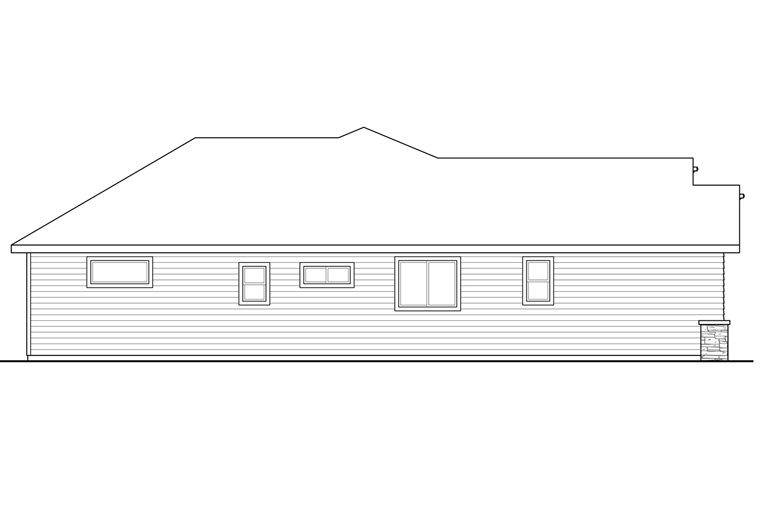 Cottage, Country, Craftsman House Plan 41231 with 3 Beds, 2 Baths, 2 Car Garage Picture 1