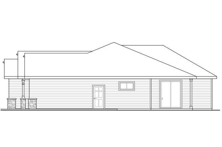 Cottage, Country, Craftsman House Plan 41231 with 3 Beds, 2 Baths, 2 Car Garage Picture 2