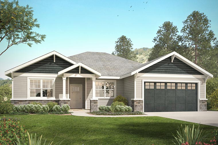 Country Craftsman Ranch House Plan 41232 Elevation