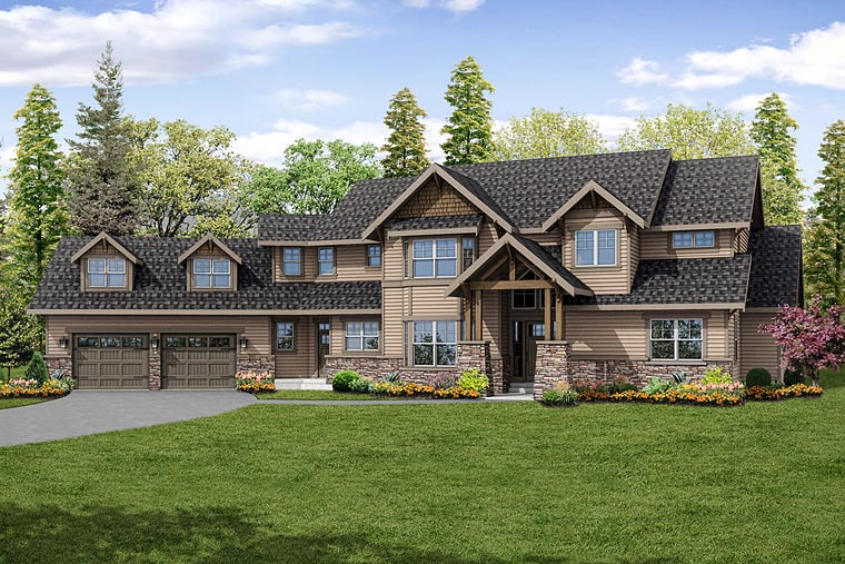 Country Craftsman Southern Traditional House Plan 41234 Elevation